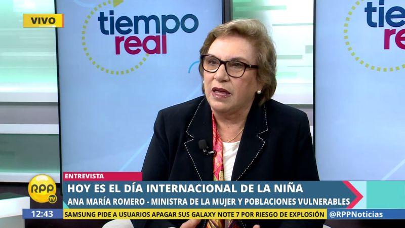 Ana María Romero-Lozada cuestionó que la sociedad peruana margina a las niñas por su condición de mujeres.