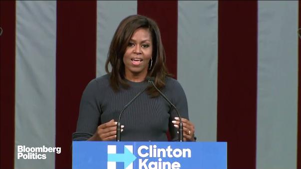 Michelle Obama instó a todos los ciudadanos estadounidenses a votar por Hillary Clinton para seguir siendo