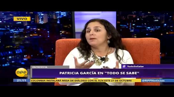 La ministra de Salud, Patricia García, dijo que el caso de Carlos Moreno es