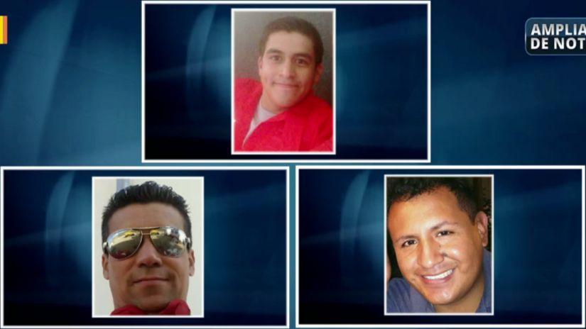 Alonsa Salas, Eduardo Jiménez y Raúl Sánchez, los bomberos que perdieron la vida en el incendio de El Agustino este miércoles.