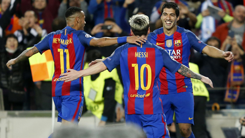 Barcelona goleó en la Champions League.