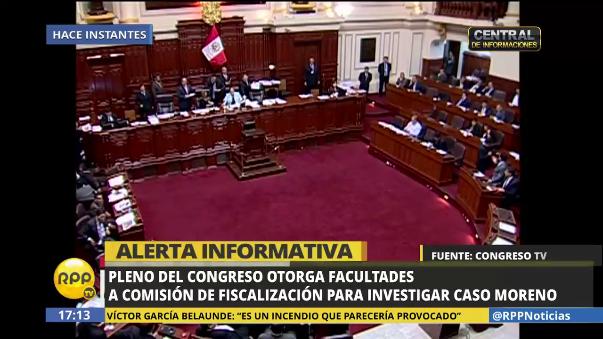 Fiscalización investigará por 120 días a Carlos Moreno.