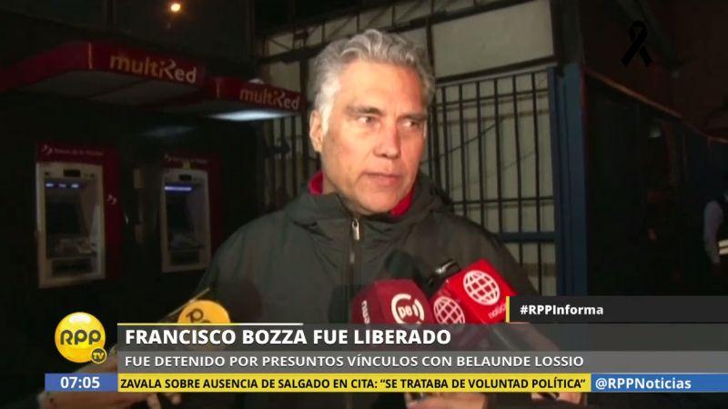 Francisco Boza salió en libertad a las 5:25 a.m., tras lo cual se dirigió a su casa, en Miraflores.