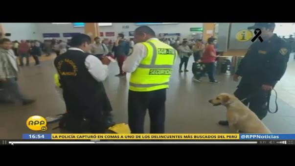 Incidente en el aeropuerto Jorge Chávez.
