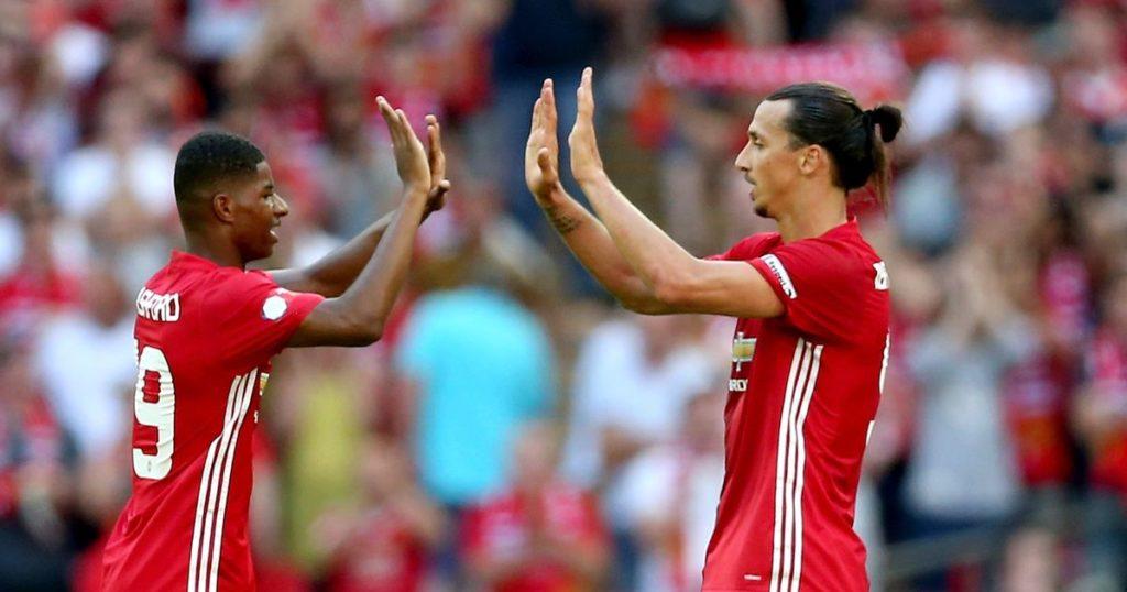 Zlatan Ibrahimovic dio su primera asistencia como jugador del Manchester United.