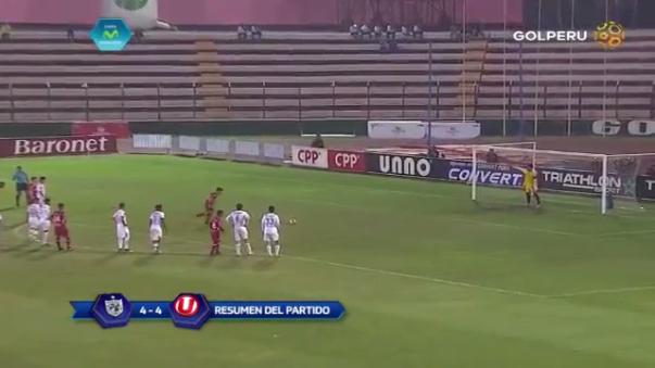 Universitario de Deportes empató 4-4 con San Martín en el Callao.