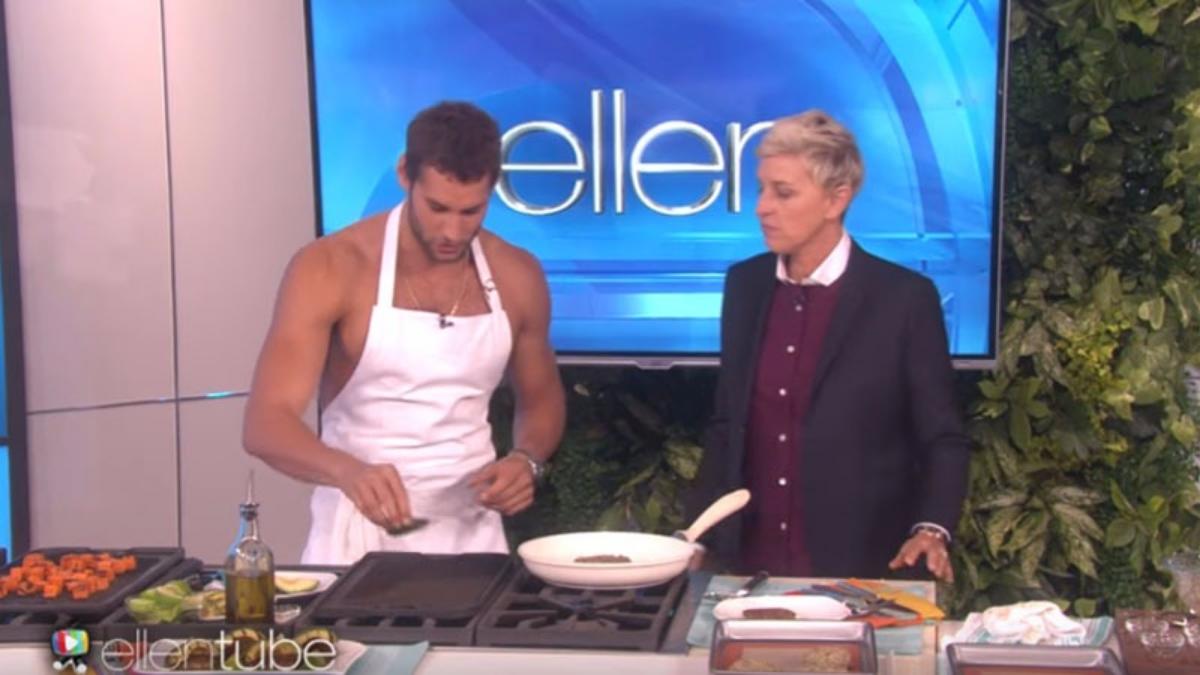 La popularidad de Franco Noriega lo llevó a que la famosa conductora Ellen DeGeneres lo invitase a su programa para preparar algunos platos de fusión peruana.
