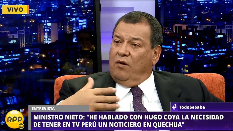 El ministro de Cultura, Jorge Nieto Montesinos, dijo que ya habló con el director de TV Perú, Hugo Coya, para iniciar el proyecto.