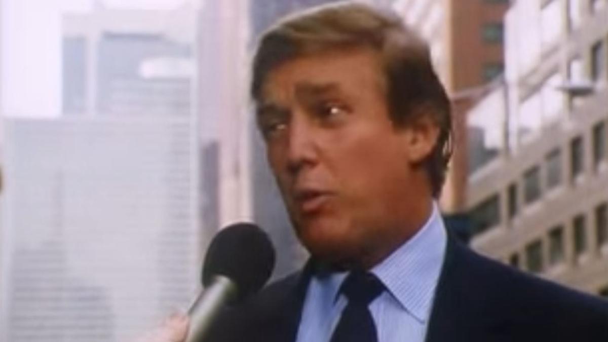 Donald Trump en la cinta