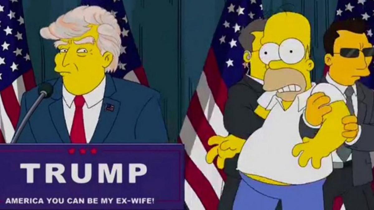 El capítulo de 'Los Simpson' que predijo la victoria de Trump hace 16 años