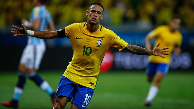 Neymar lleva 4 tantos en las Eliminatorias Rusia 2018.