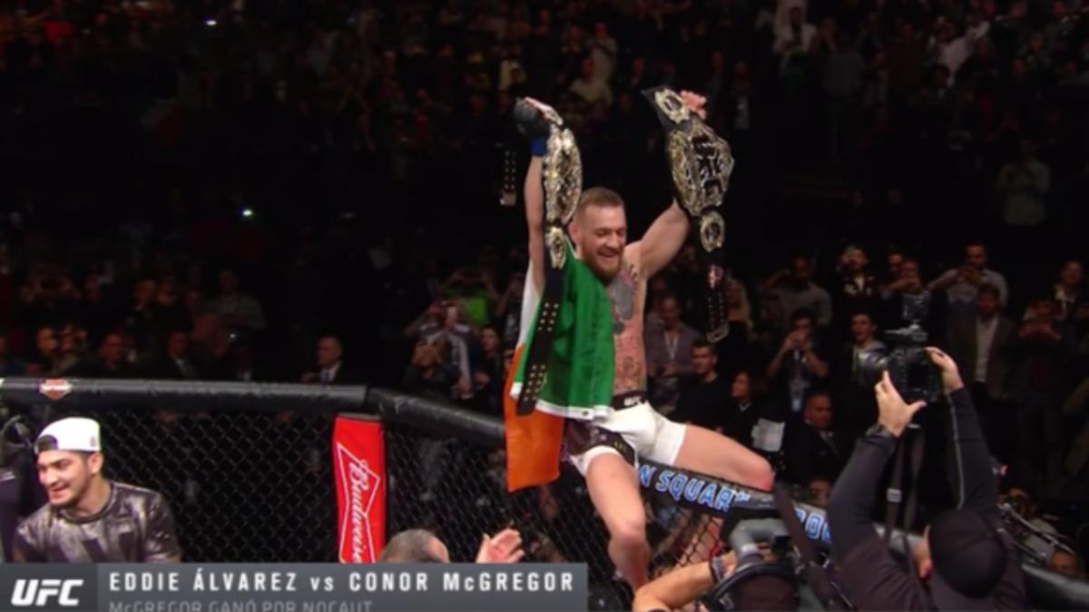 McGregor venció en el primer gran evento de la UFC en Nueva York.