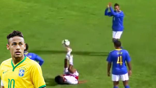 Neymar se admiró por la habilidad de 'Patadita'.