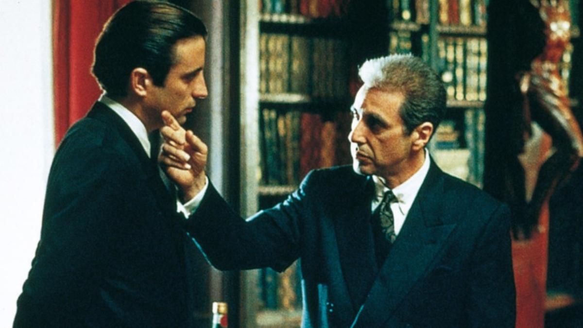 Andy García y Al Pacino, aprendiz y maestro, en un momento cumbre de la película.