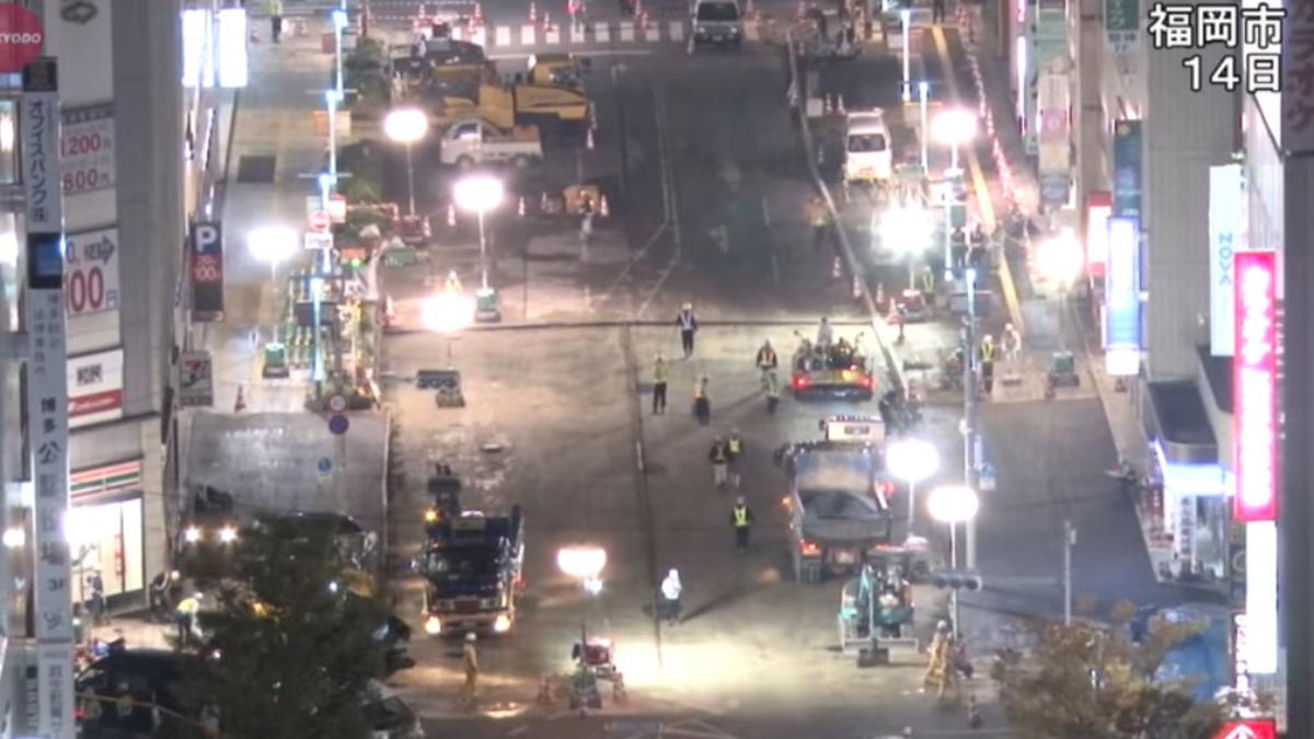 Los trabajos continuos comenzaron el pasado jueves han permitido que la carretera se haya reabierto este martes.