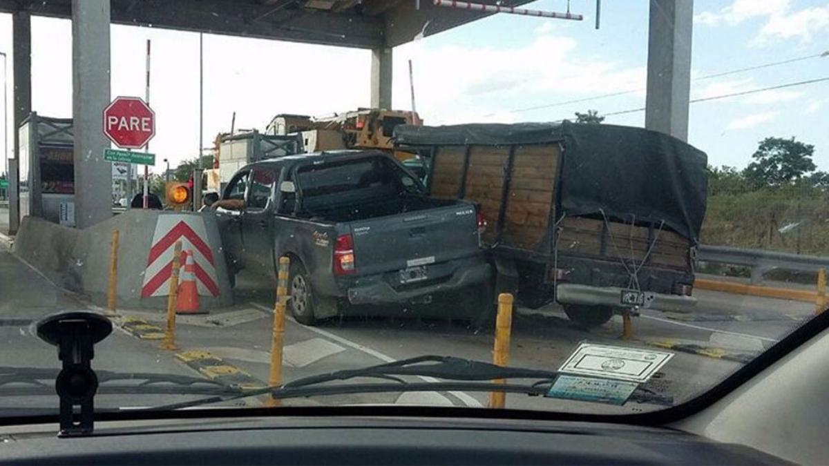 El accidente fue el viernes en la salida de un peaje en Buenos Aires.