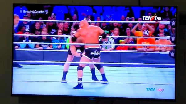 La 'Bestia' perdió ante Goldberg en el evento Survivor Series.