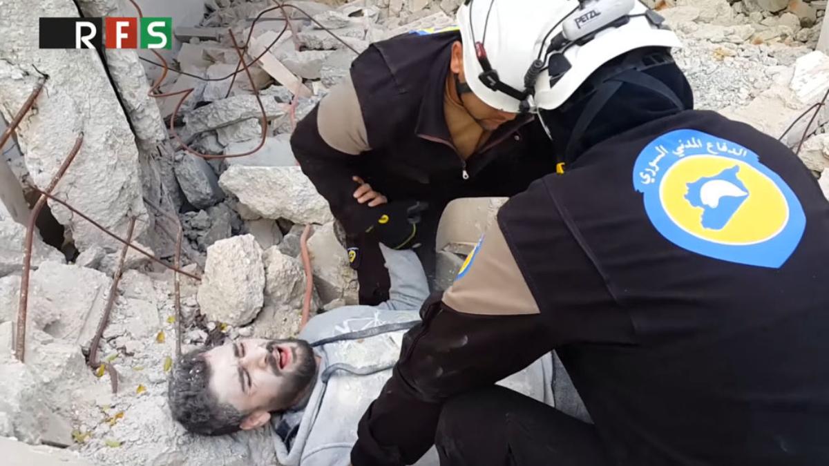 Controvertido 'Mannequin Challenge' de Cascos Blancos en Siria.