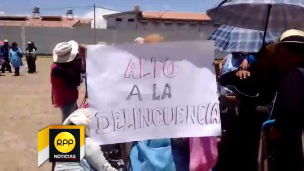 Comerciantes protestan en Juliaca.