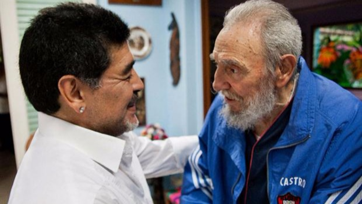 Diego Maradona tenía tatuados a Fidel Castro y al 'Che' Guevara.