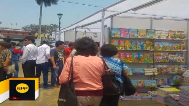 Desde hoy se desarrolla la Feria Internacional del Libro en Trujillo.
