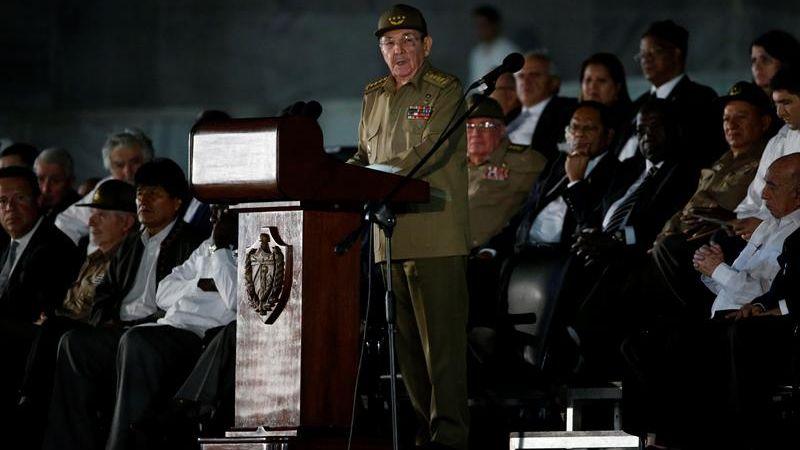 Esta fue la primera intervención pública de Raúl Castro desde que anunció la muerte de su hermano Fidel.