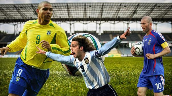 Europa versus Resto del Mundo con los duelos entre Zinedine Zidane ante Ronaldo Nazario y Gabriel Batistuta.
