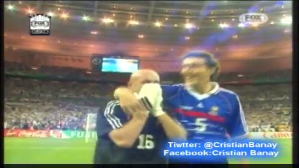 Brasil y Francia en la final del Mundial 1998.