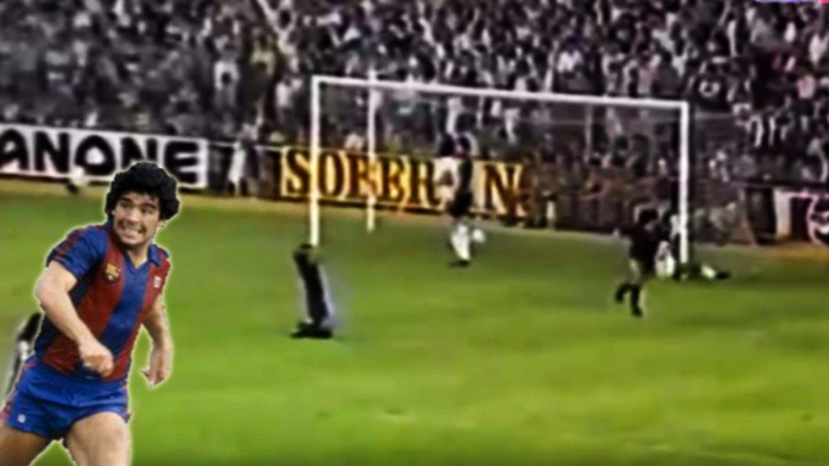 Golazo de Maradona al Real Madrid.
