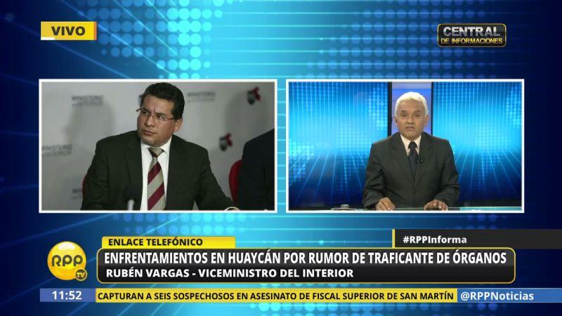 El viceministro dijo los denunciados no solo incluye a los que participaron en los disturbios, sino también a los que promovieron el caos en Internet.