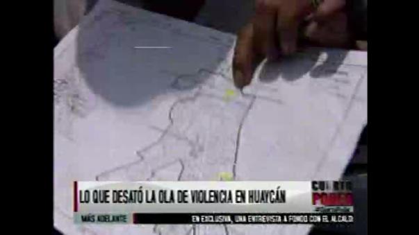 Mostraron un dibujo y un mapa marcado.