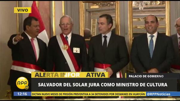 Juraron el ministro de Defensa, Jorge Nieto, y Cultura, Salvador del Solar.