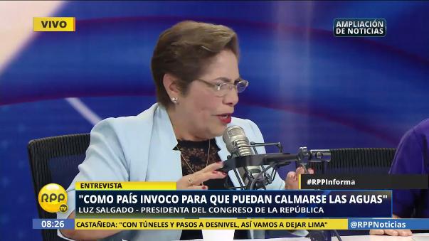 Más temprano, Luz Salgado dijo que las expresiones de Luis Galarreta respondían a una 'provocación del Gobierno'.