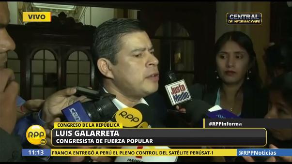 Luis Galarreta negó que el fujimorismo se jacte de su poder.