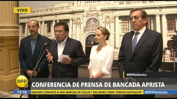Posición del Apra frente a moción de censura de Jaime Saavedra.