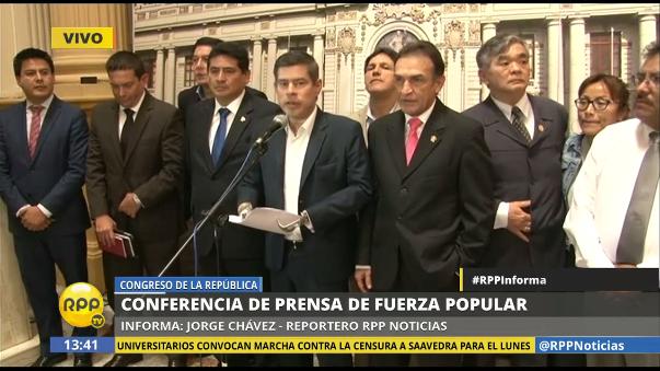 Fuerza Popular dijo que el ministro de Educación, Jaime Saavedra, no está capacitado para ejercer el cargo.