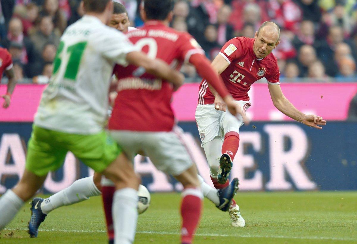 Arjen Robben lleva 5 goles en la Bundesliga.