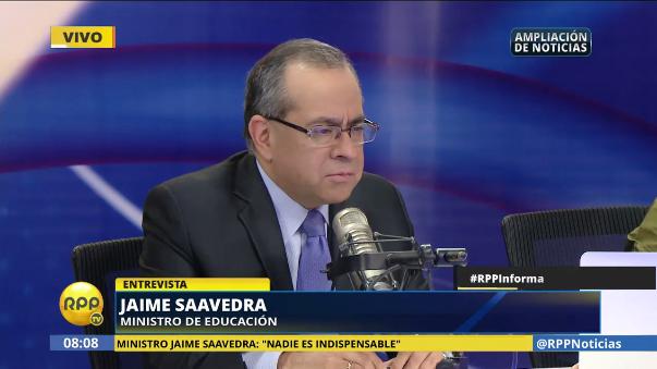 Jaime Saavedra dijo que seguirá al frente del Ministerio de Educación hasta que el presidente le pida que renuncie.