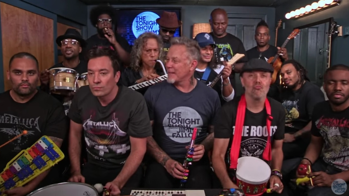 Jimmy Fallon, Metallica & The Roots Sing