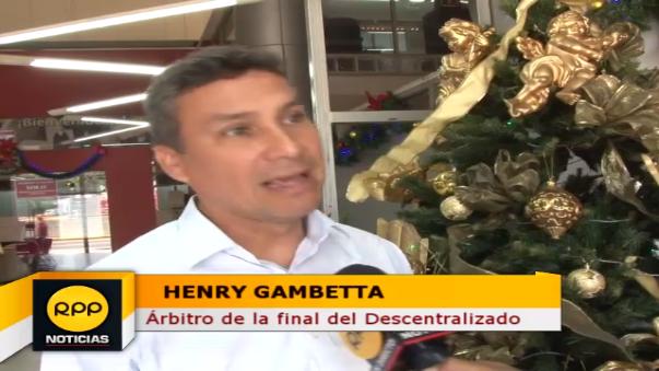 Henry Gambetta habló con RPP Noticias antes de la final del domingo en el Estadio Nacional.