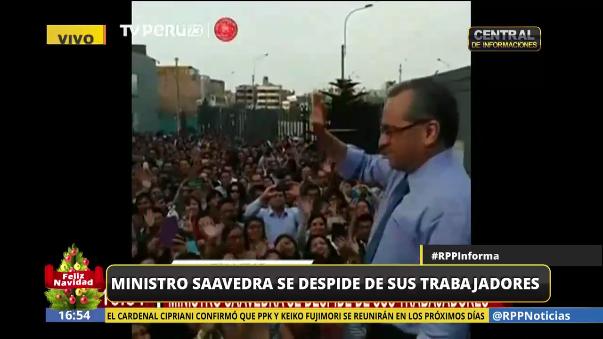 Jaime Saavedra se despidió de todos sus trabajadores del Ministerio de Educación.