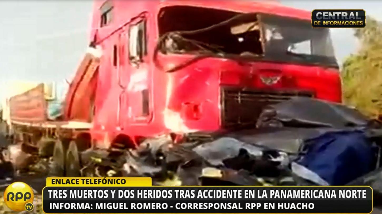 El accidente se produjo en el kilómetro 150 de la Panamericana Norte.