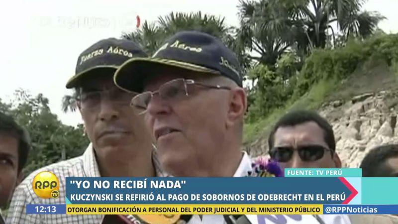 Pedro Pablo Kuczynski dijo que la Fiscalía deberá determinar quiénes se beneficiaron en el Perú con los sobornos de Odebretch.