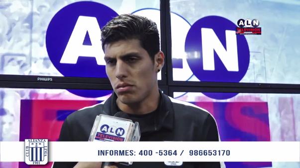 Hansell Riojas y sus primeras declaraciones como jugador de Alianza Lima.