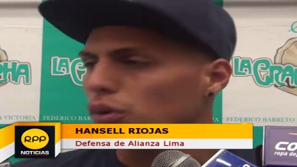 Hansell Riojas llega procedente de la César Vallejo.