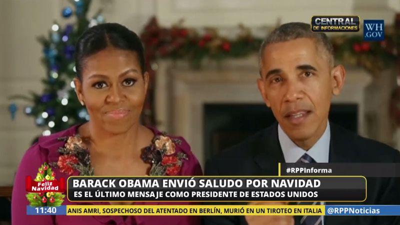 Obama y su esposa agradecieron la confianza puesta en ellos durante estos ocho años.