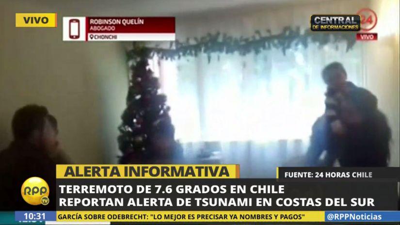 Así se sintió el sismo en Chile