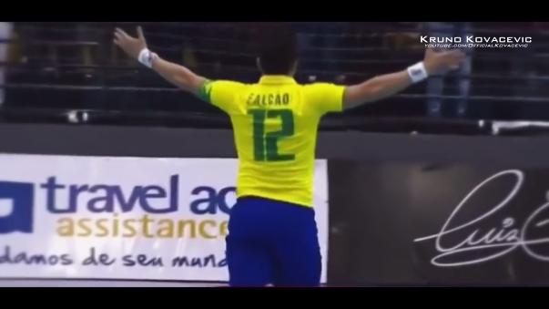 Falcao acostumbra marcar golazos en futsal de Brasil