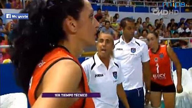 Natalia Málaga tuvo una increíble bronca con una de sus jugadoras.