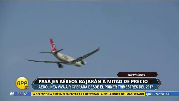 En noviembre, la aerolínea Viva Air Perú Nueva ofreció vuelos desde S/60 el tramo.